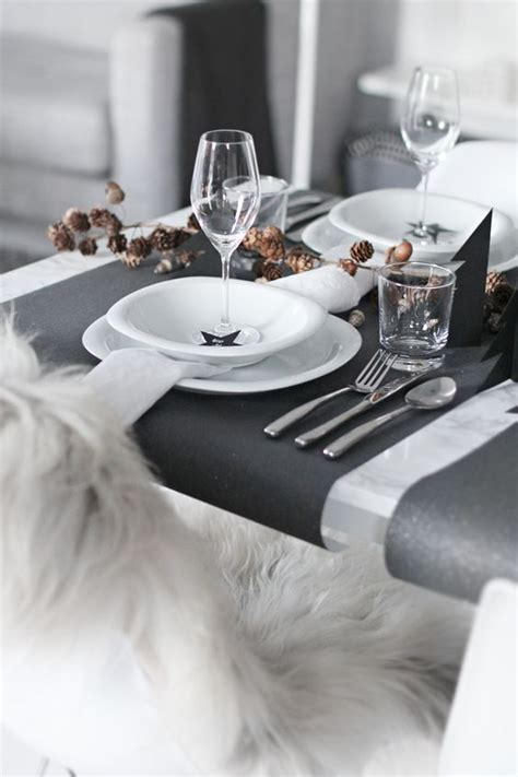 contemporary setting 21 modern christmas table settings to get inspired shelterness