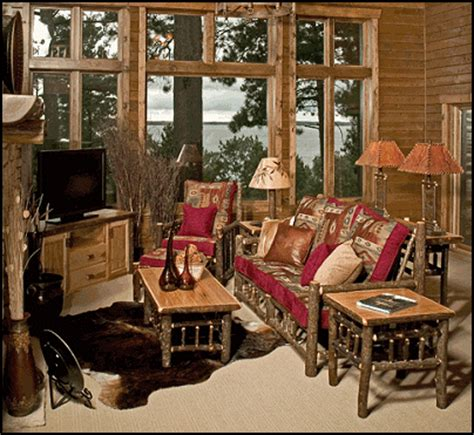 lodge living room furniture decorating theme bedrooms maries manor log cabin