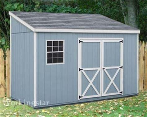 lean  roof storage shed blueprints project