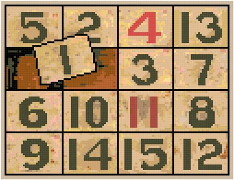 pattern numbers games antique sliding numbers game pattern chart graph