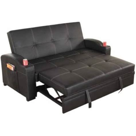 Leather Futon With Cup Holders by Maple Pu Leather Futon Sofa Bed With Cup Holders Buy