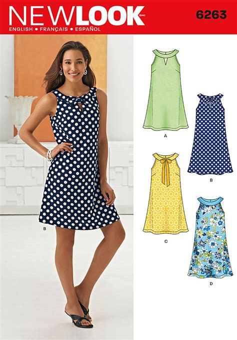 new pattern dress images new look 6263 misses a line dress
