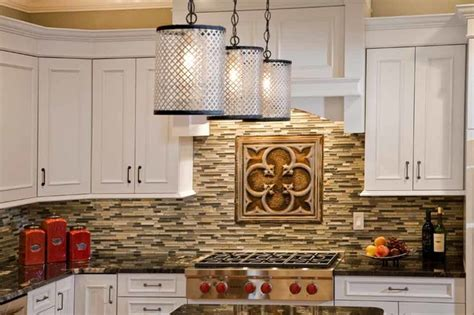 a tin and subway tile backsplash contemporary tile