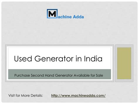 ppt used generator india powerpoint presentation id