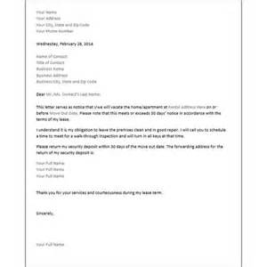 Memo Notice Sle Printable Sle 30 Day Notice To Vacate Letter Form Real Estate Forms Real