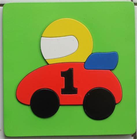 Limited Stock Mainan Edukatif Edukasi Anak Puzzle Stiker Kayu Knop mainan kayu puzzle cat timbul mobil balap mainan eduka pusat mainan mendidik dan aman