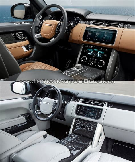 land rover interior 2018 2018 range rover vs 2013 range rover interior indian