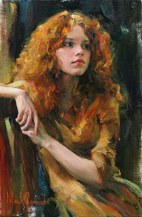Painting M D F by Figurative Beautiful Portrait