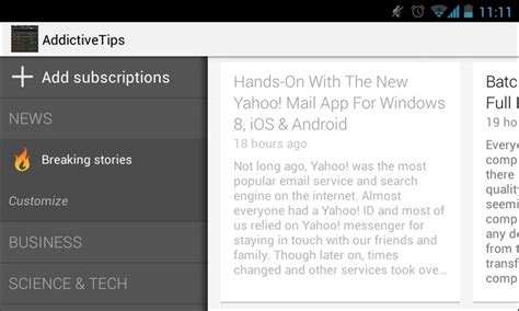 the for android app gets a big facelift the currents for android gets facelift sidebar widget more