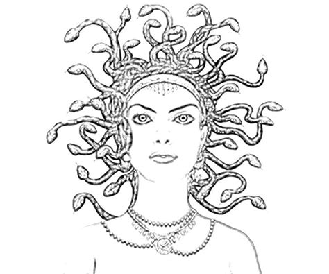 medusa coloring pages images medusa coloring page coloring home