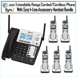 home phone systems at t sb67158 synj 4 line extendable range corded cordless