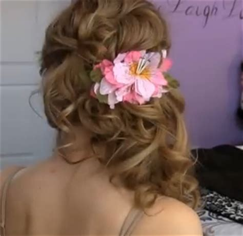 hairstyles cascading curls prom hairstyle for long hair side swept cascading curls