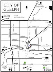 guelph canada map guelph and area map