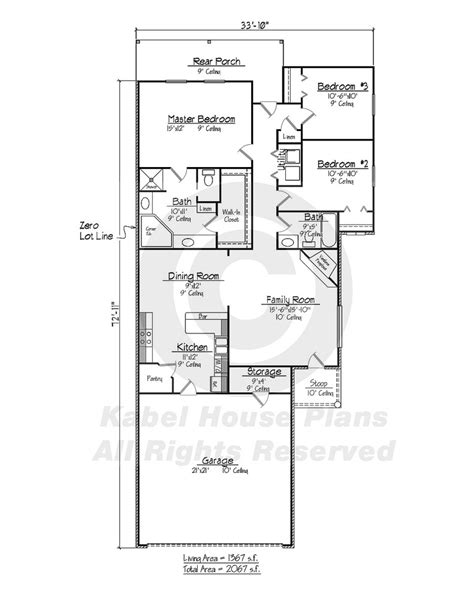 afton zero lot house plans