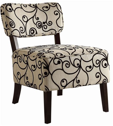 Black White Accent Chair Orson Black And White Accent Chair From Homelegance