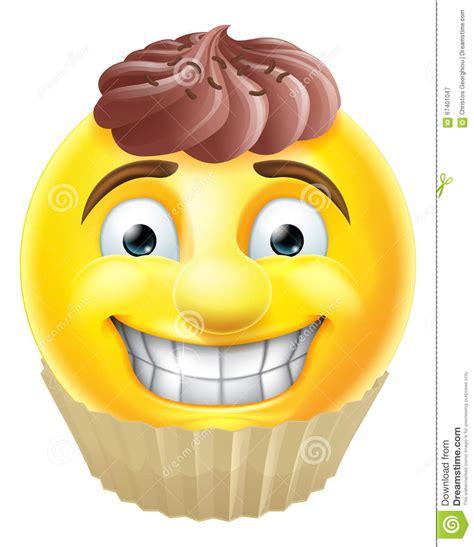 smiley kuchen schokoladen kuchen emoji emoticon vektor abbildung