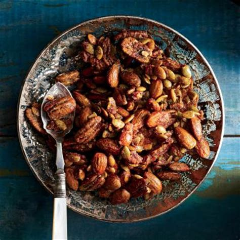 cooking light holiday appetizers brown sugar spiced nut mix thanksgiving appetizers