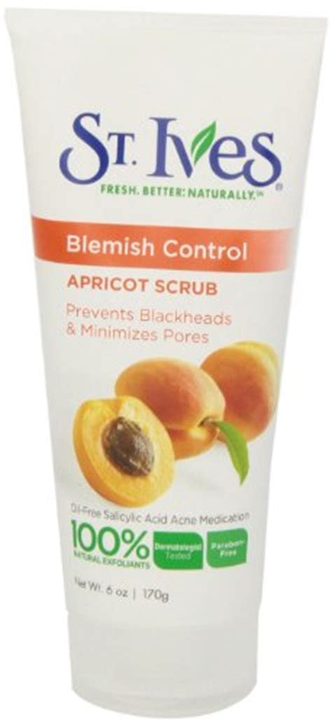 St Ives Naturally Clear Apricot Scrub st ives naturally clear blemish and blackhead scrub apricot 6 ounce desertcart