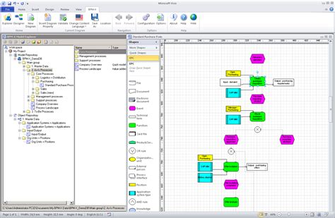 visio solutions business process analysis transware ag