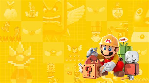 wallpaper for desktop maker super mario maker