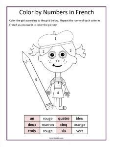 Colours Activity Learning Act Funlrn Col free color by numbers worksheet students can practice working with the names for