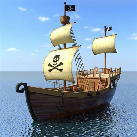 cartoon boat 3d model cartoon pirate ship 3d model 1144917 turbosquid