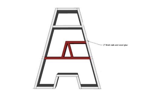 letter a bookshelf tutorial 3m diy starts here home