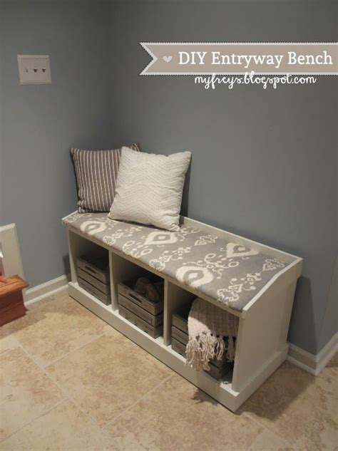 diy storage bench entryway bench storage on pinterest entryway bench