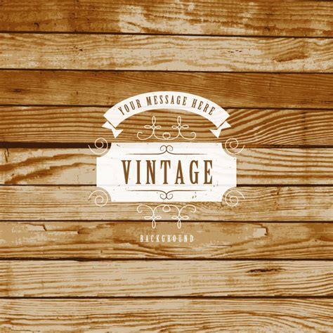 Vintage Wood Background Vector   Free Vector Graphic Download