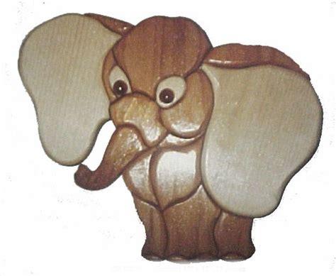 wood elephant pattern elephant intarsia patterns scroll saw pinterest