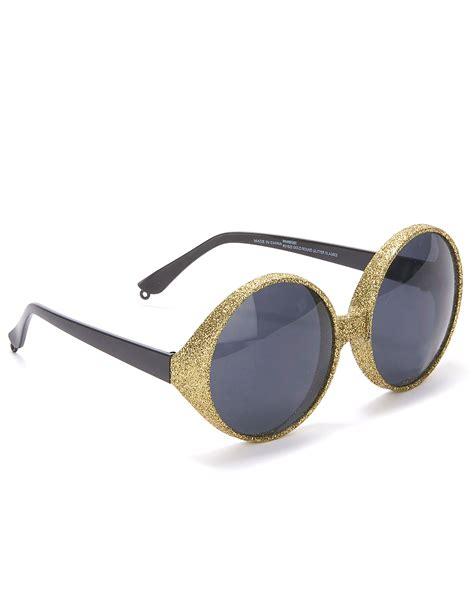 occhiali con occhiali rotondi con montatura paillettata