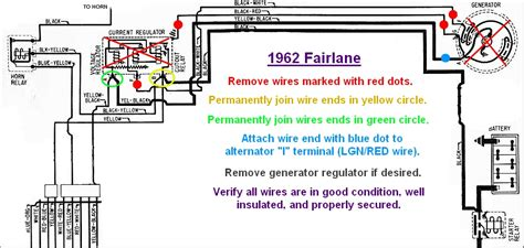 falcon generator to alternator conversion wiring diagrams