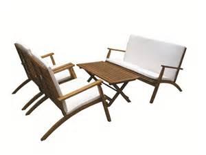 salon jardin bois exotique fauteuil salon de jardin bois qaland