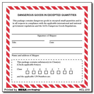 printable excepted quantity label 4 quot x 4 quot dangerous goods in excepted quantities labels