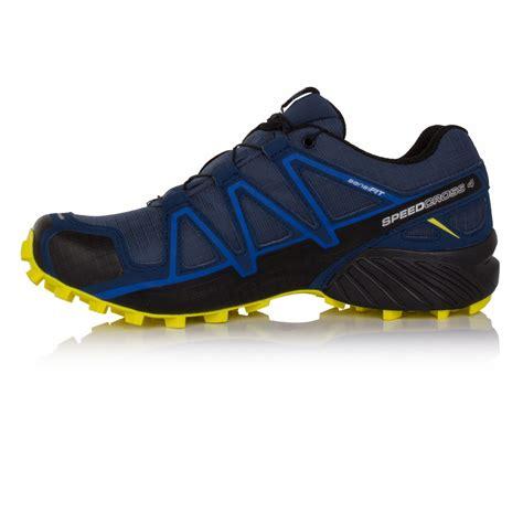 mens waterproof running shoes salomon speedcross 4 mens blue tex waterproof trail
