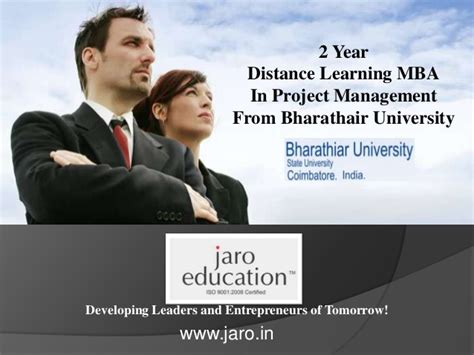 Retail Mba Distance Learning by Bharathiar Distance Learning Mba In Project Management