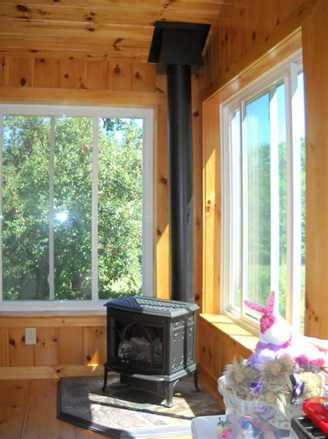 Jotul Allagash Gas Stove in New Hampshire Sunroom from ... Locksmiths In Nh