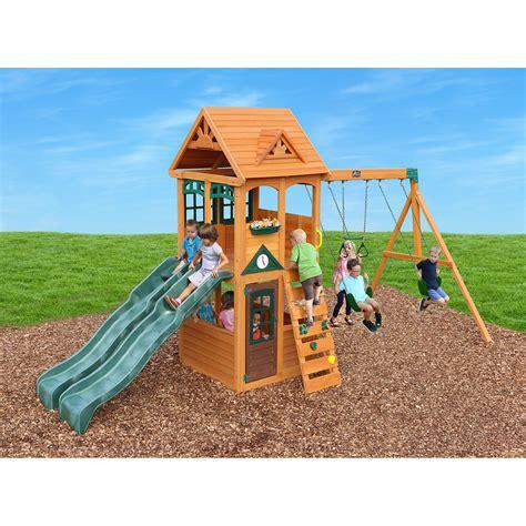 sams club swing sets cedar summit westbury wooden play set boutiqify