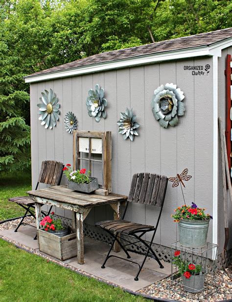shed decor my new junk garden shed organized clutter