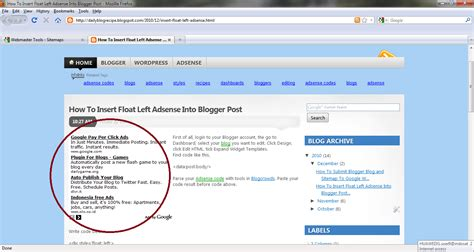 how to insert adsense into blogger post