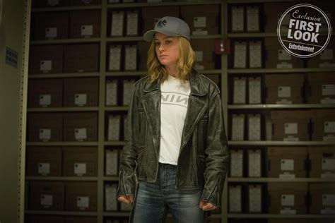 leigh whannell marvel captain marvel movie first look at brie larson as carol