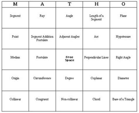 math bingo card template free bingo math to