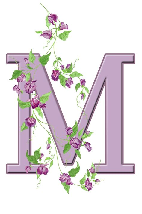 Initial M letter m floral initial free stock photo domain