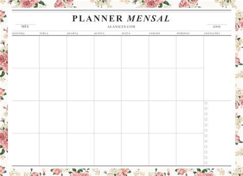 Calendario Mensal Hey Anny Planners 2017 Para Imprimir
