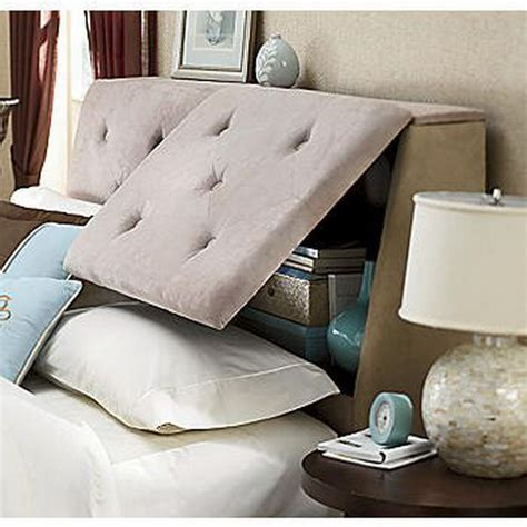 Headboard With Storage 20 Clever Storage Ideas Hative