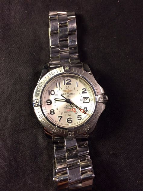 used breitling colt gmt a32350 mens automatic used