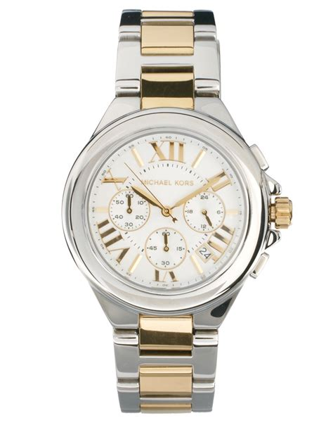 gold plated and stainless steel michael kors