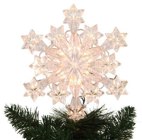 christmas decorations 9 5 quot lit snowflake tree topper