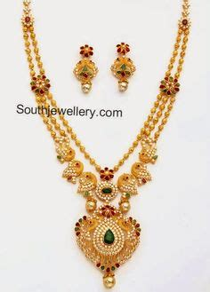 C 4564 Set Owl khazana gold haram necklace designs