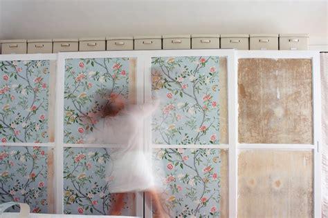 wallpapering a closet wallpapersafari nap atelier closet transform 1 5 wallpapering